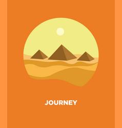 Pyramids in egyptian desert landscape icon vector