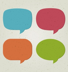 Retro speech bubbles set vector