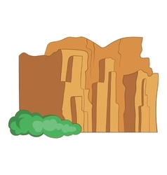 Sandstone cliffs talampaya national park icon vector