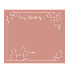 Santa Claus fir tree and bells background vector image vector image