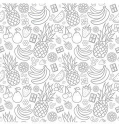 Seamless pattern of tastes vector image vector image