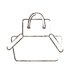 Sketch draw basket shopping bag gift online vector