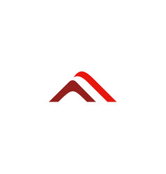 triangle stripe unusual company logo vector image vector image