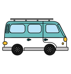 Van turism isolated icon vector