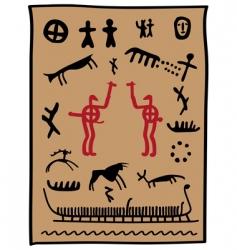 Viking petroglyphs vector