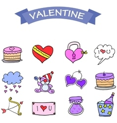 Art of object valentine day vector