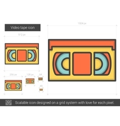 Video tape line icon vector