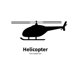 Black helicopter silhouette vector