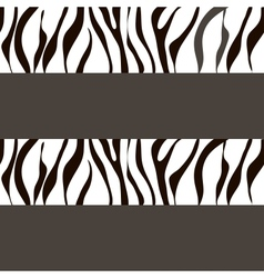 Zebra background with traces vector