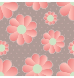 Daisy retro background vector