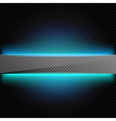 Metallic background with carbon texture and lines vector image