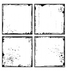 Set grunge frames vector