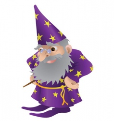 wizard cartoon vector image