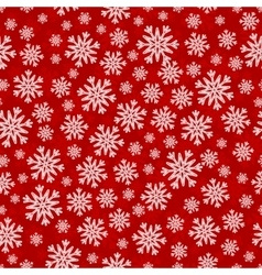 Christmas seamless pattern with white red vector
