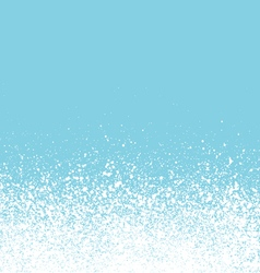 Graffiti sprayed winter floating snow background vector