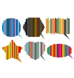 striped speech bubbles vector image