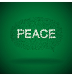 Floral peace sign vector