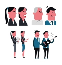 Man and woman cartoon people design vector