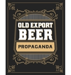 Beer label with old frames vector