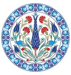 Antique ottoman turkish pattern design thirty nine vector