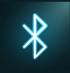 Bluetooth glow icon vector