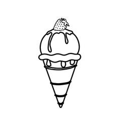 delicious ice cream vector image