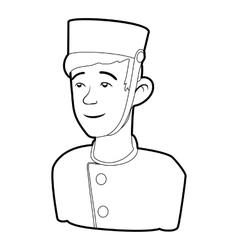 Doorman icon outline style vector