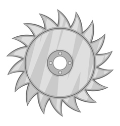 Drive for saw icon black monochrome style vector