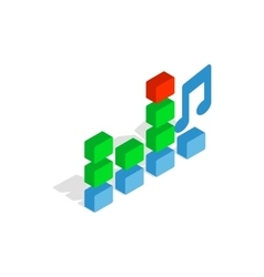 Equalizer scale icon isometric 3d style vector