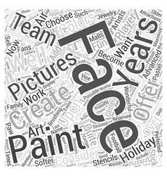 Face painting pictures word cloud concept vector