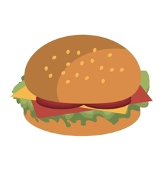 fast food burger graphic vector image vector image