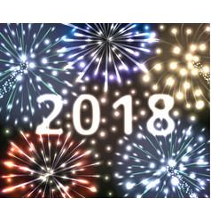 happy new year 2018 vector image