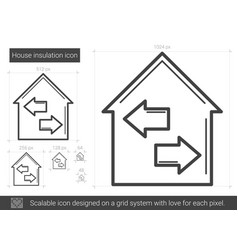 House insulation line icon vector