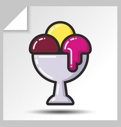 Ice cream icons 9 vector