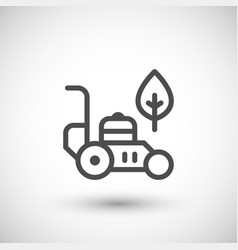 Lawn mower line icon vector