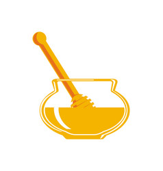 Natural honey isolated icon vector