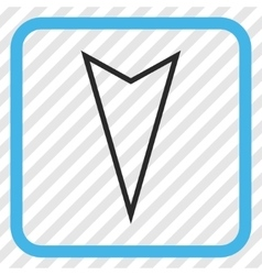 Pointer down icon in a frame vector