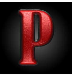 Red plastic figure p vector