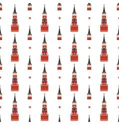 russian kremlin seamless pattern vector image