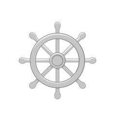 Ship wheel icon black monochrome style vector