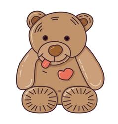 Teddy bear Isolated on white vector image