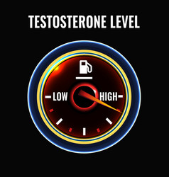 Testosterone deficiency concept vector