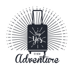 Vintage adventure label design outdoor activity vector