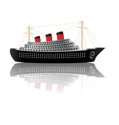 Vintage ocean liner vector