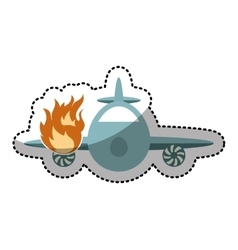 Airplane flying insurance isolated icon vector