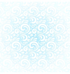 Blue winter curls abstract background vector