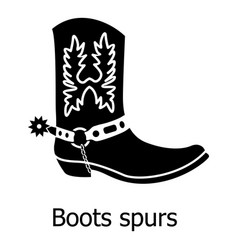Boot spurs icon simple black style vector