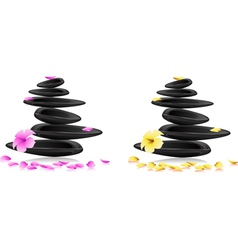 Spa stones and flowers vector