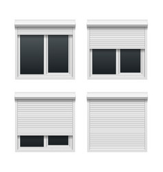 Window with roller shutters vector image