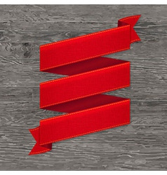 Grey Wood Board With Red Ribbon vector image